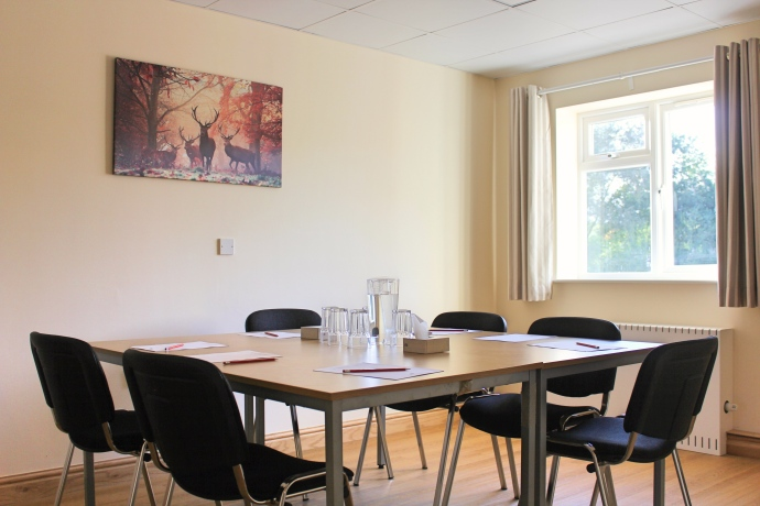 The meeting room - available for private meetings and consultations