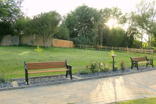 Outdoor seating is always available in our beautiful gardens