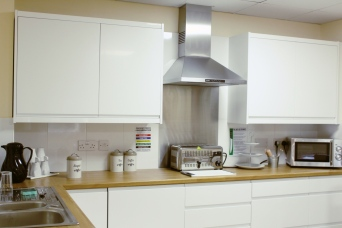 The skills kitchen also provides a space for residents to dine privately with their family should they so wish