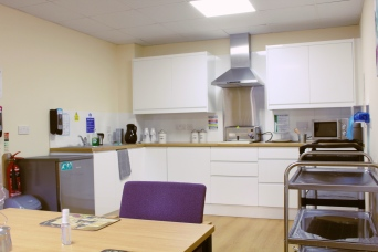 Our skills kitchen allows guests to enjoy a snack and helps maintain a sense of independence for our more able residents