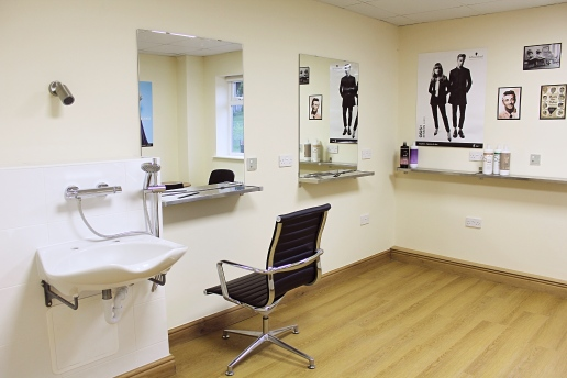 Our on site specialist hair-dressing room